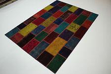 moderne Patchwork Délavé Used Look PERSAN TAPIS tapis d'Orient 2,38 x 1,70