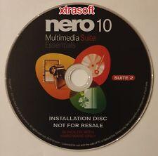 More details for nero multimedia suite 10 essentials disc free first class uk vat inc
