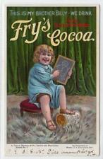 THIS IS MY BROTHER BILLY WE DRINK FRY'S COCOA: advertising postcard (C30740)