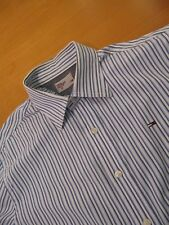 Tomy Hilfiger shirt camisa white blue stripes medium
