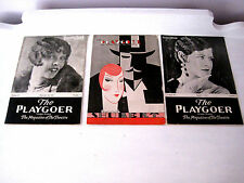 Vintage Lot of 3 The Playgoer: The Magazine of the Theatre-1929 (2)