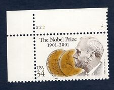 3504 Nobel Prize Centenary Single W/Plate Number Mint/nh (Free shipping offer)