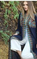 Abaya Embroidered Palestinian Jordanian Traditional Arabic Dress Open Thobe