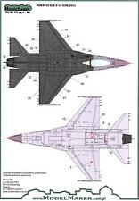 Model Maker Decals 1/72 PORTUGUESE F-16 NATO TIGER MEET 2011