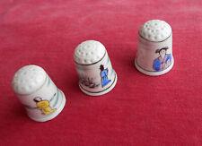 JAPON  : Lot de 3 Dés à Coudre :  Porcelaine   !