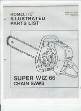 A Homelite * Super Wiz 66) Chainsaw Parts List & Repair Dia. Copy