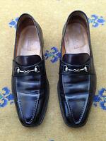 Berluti Men's Shoes Hand Made Black Leather Horsebit Loafers UK 6 US 7 EU 40