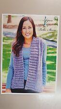 Bella Storia Knitting Pattern #111 To Knit Ladies Vest in Aspen Yarn