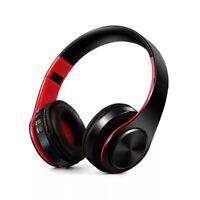 Headphones bluetooth wireless earphones HIFI stereo music FM SD card with mic