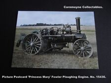 Picture Postcard 'Princess Mary' Fowler Ploughing Engine. No.15436. AH9240.