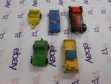 Vintage TootsieToy Lot of 5 Mixed Metal Toy Cars Orange Yellow Black Lot #18