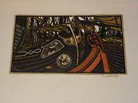 François-Louis SCHMIED GRAVURE ORIGINALE BOIS BARQUES VENITIENNES ART DECO 1922
