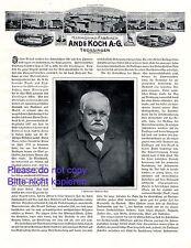 Harmonica fábrica Koch Trossingen publicitarias 1916 Fig. bubsheim Aldingen wehingen +
