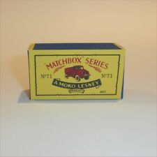 Matchbox Lesney 71 a Water Tanker empty Repro B style Box