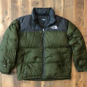 Mens The North Face Goose Down 700 Nuptse Puffer Full Zip Jacket Coat 2XL