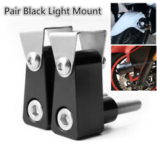 Pair BLK Aluminum Motorcycle Modified Bracket Fog Light Spotlight Support Mount