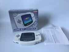 Rare White Nintendo Gameboy Advance Console Boxed CiB GBA - Nice Condition