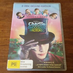 Charlie and the Chocolate Factory DVD R4 Like New! FREE POST