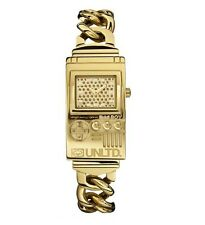 NEW-MARC ECKO POLISHED GOLD BRACELET CHAIN ECKO BOY WATCH- E12542G1-MSRP$125