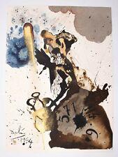 """Salvador Dali Lithograph """"Mane, Thecel, Phares"""" Biblia Sacra 1967 Hugh Hefner"""