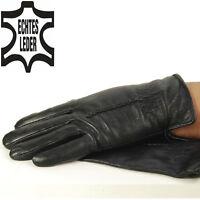 Herren Lederhandschuhe gefütterte Handschuhe echtes Leder Nappaleder mod.4