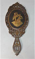 Fine Antique Italian Inlaid Hand-Carved Rosewood Parquetry Mirror c. 1920
