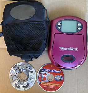 2003 VideoNow Personal Video Player Hasbro Purple w/ 2 Discs & Case TestedWorks