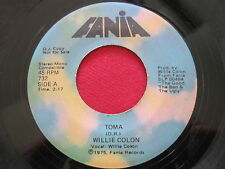 WILLIE COLON ~ MC2 / TOMA ~ FANIA 732 PROMO MEGA RARE LATIN PSYCH FUNK BREAKS 45