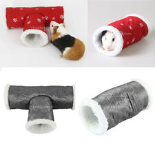 Small Animal Tunnel 3/2 Way Rabbit Ferret Hamster Hedgehog Pet Play Toy Bed Nest
