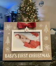 """""""Baby's First Christmas� 4X6 Hallmark Picture Frame! New!"""