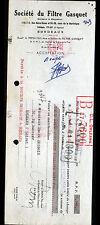 """BORDEAUX (33) MOTOPOMPE """"G. PEPIN Fils ainé / Sté du FILTRE GASQUET"""" en 1951"""