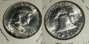 RFM 58878 Silver Franklin Half Dollar 1963 D BU Condition.