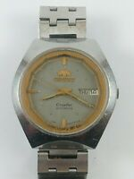 Vintage ORIENT CRYSTAL NW469325-4A Automatic 21 Jewels Japan Watch Working