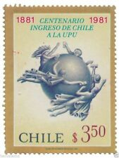 Chile 1981 #1000 Centenario Ingreso de Chile a la UPU MNH