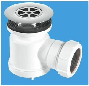 MCALPINE SHOWER COMBINED TRAY HOLE BASE WASTE PIPE OUTLET TRAP STW7-R GRID DRAIN