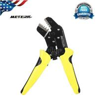 Wire Crimper Ratchet Terminal Crimping Plier 24-10AWG Bootlace Ferrule Crimper