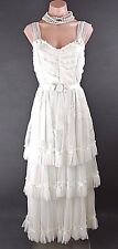 Vintage Inspired Bridal dress S Ivory Victorian Gatsby Romantic Titanic Bridal