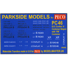 Modelmaster MMPC46 BR Conflat A with FM Container Transfers (Parkside PC46) OO