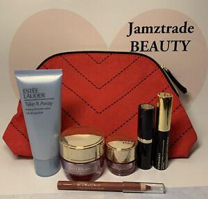 Estee Lauder 7pc Set*Makeup Remover*Day&Eye Cream*Lipstick*Mascara*Lip Pencil*Ba