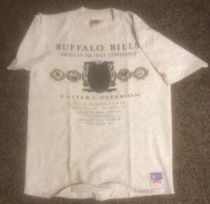 RARE FACTORY ERROR Vintage 92 Buffalo Bills Shirt AFC Eastern Nutmeg Mills XL