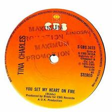 """Tina Charles - You Set My Heart On Fire - 7"""" Record Single"""