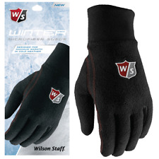 WILSON Winter™ MENS THERMAL FLEECE TOP GOLF GLOVES PAIR ALL SIZES @ 40% OFF RRP