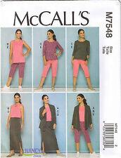 Stretch Knit Womens Leggings Pants Jacket Top Skirt Sewing Pattern 18 20 22 24
