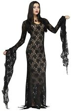 Fun World Addams Family Morticia Addams Darkness Womens Haloween Costume 124044