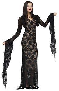 Fun World Addams Family Morticia Addams Darkness Womens Haloween Costume 124044