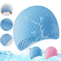 Silicone Swimming Cap Hat Waterproof Cover Ears Long Hair For Adult Men Women US