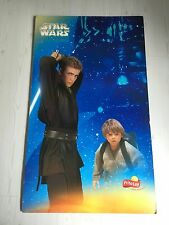 "STAR WARS ATTACK OF THE CLONES GIANT DISPLAY ANAKIN YOUNG & TEEN RARE 40"" X 24"""