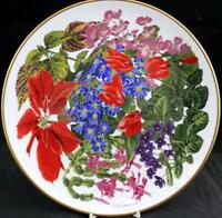 Franklin Mint FLOWERS OF THE YEAR Collector Plate December GREAT CONDITION