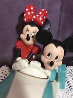 Disney Lenox Mickey & Minnie Vintage Car Ride Figurine New with COA