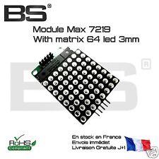 Matrice 8 * 8 LED + MAX7219 + Dupont afficheur matriciel cascadable Pi Arduino